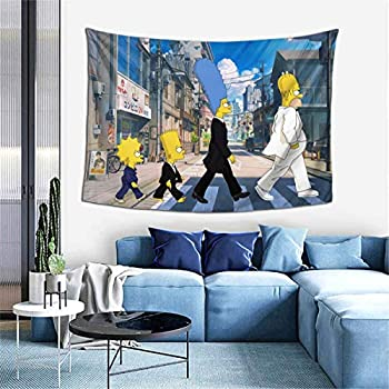 Bestrgi Tapestry Art Wall Hangings 3D Printing Decoration The Simpsons Wall Art Blanket Living Room Super Soft Throw Home Decor For Dorm Bedroom Home Decor 60x40 Inches