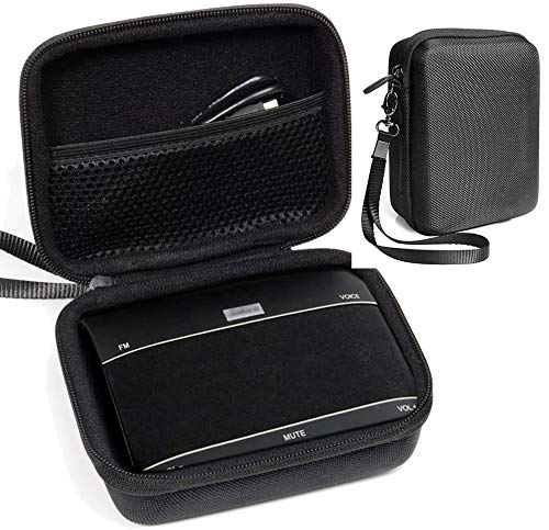 Customized Protective Case for Jabra Freeway Bluetooth in-Car Speakerphone by CaseSack, Mesh Pocket for Cable and Accessories, Detachable Wrist Strap for Easy Carrying