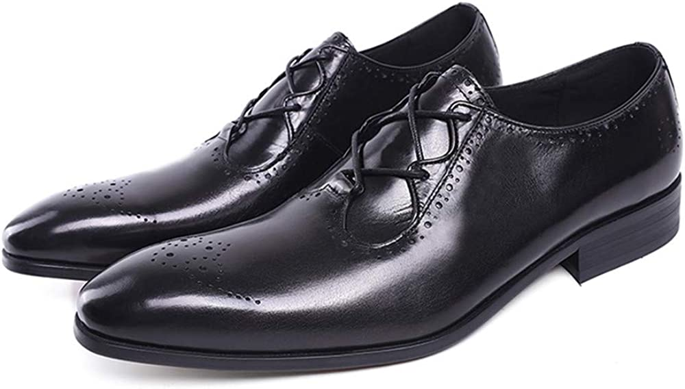 Mens Shoes Leather Classic Oxfords Brogue Medallion Lace-Up Zip Modern Formal Business Shoes Oversized Shoes 15 Man