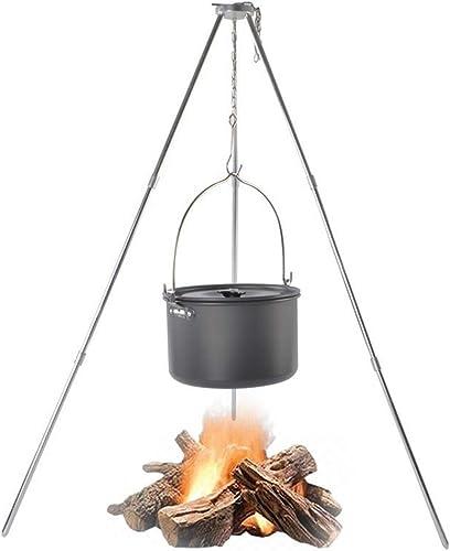 ILUVBBQ 1set BBQ Grills Grille de Support de Barbecue en Plein air pour Support de feu de Camp Suspendu