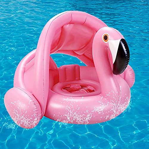 Sinwind Flotadores Bebe con Parasol, Flotador con Sombrilla Bebe, Anillo de natación Bebe, Anillo de natación Inflable, Anillo de natación Asiento, Anillo de natación, Flotador de Piscina para bebés