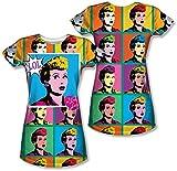 I Love Lucy - Lol de las mujeres jóvenes (Front / Back Print) T-Shirt, XX-Large, Sublimate White