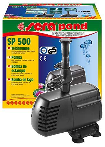 sera 30020 pond SP 500 Teichpumpe (750 l/h bei 18 Watt mit Hmax: 1,0 m) für kleine Filtersysteme und als Springbrunnenpumpe im Teich geeignet
