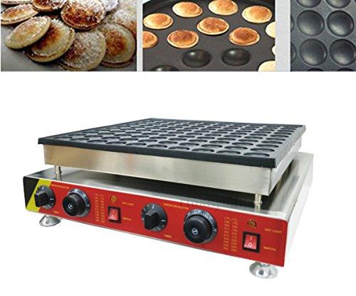 "Huanyu 100 pz Commerciale Antiaderente Elettrico 1.8 ""Mini Pancakes Olandesi Poffertje Baker Maker Making Machine (110V)"