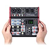 Gecheer SM-66 Portable 4-Channel Sound Card Mixing Console Mixer Built-in 16 Effects
