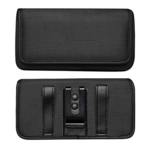 ABCTen Funda para Huawei P10 Lite / P8 Lite 2015 / P9 Lite / Y5 2017, Xiaomi Mi 5 / Redmi 7A Bolsita Táctica con Clip de Cinturón Soporte Móvil Nylon Bolsa de la Cintura Cover
