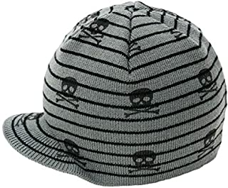 Born to Love Baby Boy's Black and Gray Checkered Visor...