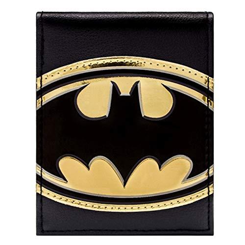 DC Comics Batman Glänzende Gold Symbol Schwarz Portemonnaie Geldbörse