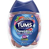 TUMS Chewy Bites Assorted Berries Antacid Hard Shell chews for heartburn Relief, 60Count
