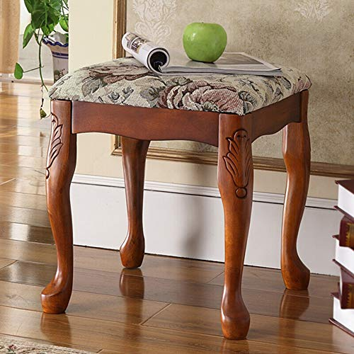 Big Save! Piano Bench Stool Comfortable And Durable Home Solid Wood Piano Bench American Style Dress...