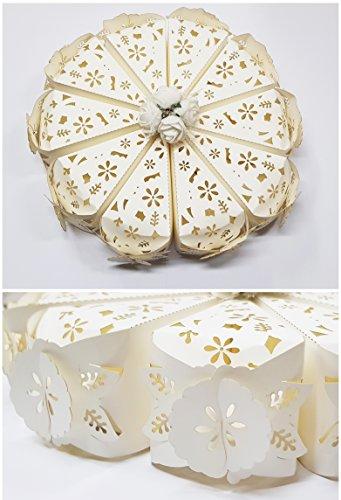 takestop® Set van 10 snoepjes snoepjes taartdecoratie wit bloemen confect communie confirmatie huwelijk doop geboorte doop geboorte doop geboorte doop geboorte huwelijk doop geboorte bruiloft