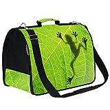 Kcldeci - Bolsa de viaje para mascotas con diseño de rana y sombra en hojas, reversible, para cachorros, gatos, perros, gatos, viajes, senderismo