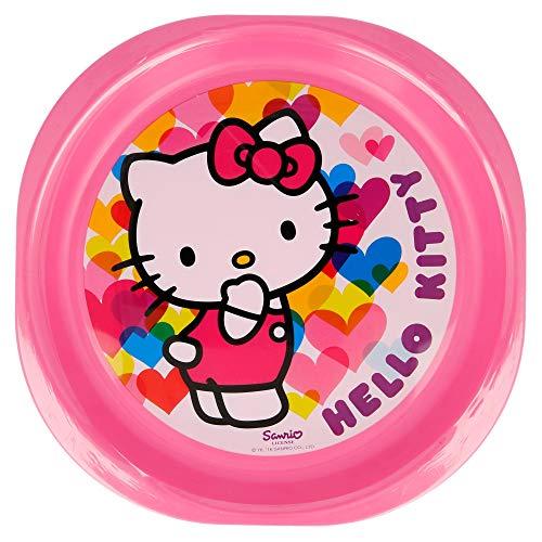 Set de 3 Assiettes Picnic Hello Kitty Hearts.