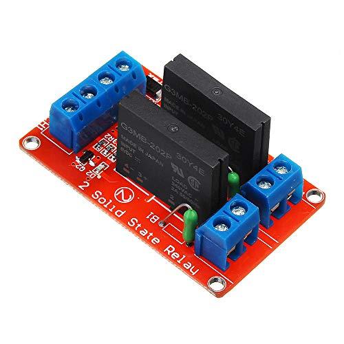 hgbygvuy 5pcs Two Way 2ch Channel Hearty State Relay Module - Prodotti Che funzionano con Le schede prescritte S