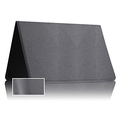 TÜV geprüfte und patentierte Schutzhülle Kartenschutz für 6 Karten CF+ Q.-Silver | RFID NFC Blocker | Magnetfeld Abschirmung | Störsender für Kreditkarte, EC Karte, Personalausweis | 100% Aktiv Schutz