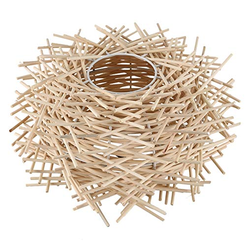 Bird Nest Pendant Lamp Light Nordic rotan rieten Wood Handmade Hotel Restaurant Cafe Living Eetkamer Suspension