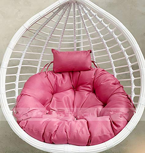 HY&DD Single Round Hanging Cushion,Egg Hammock Chair Pads,Swing Seat Cushion,Thick With Pillow Nest Hanging Chair Back,No Stand G D105cm(41inch)