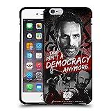Head Case Designs Licenciado Oficialmente AMC The Walking Dead Democracia Legado de Rick Grimes Funda de Gel Negro Compatible con Apple iPhone 6 Plus/iPhone 6s Plus