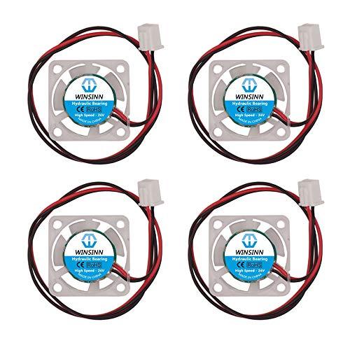 WINSINN 25mm Farb LED Lüfter 24V Hydrauliklager bürstenlos 2510 25x10mm für DIY Mini Kühl PCB/Notebook/Grafikkarte - High Speed (5 Stück)