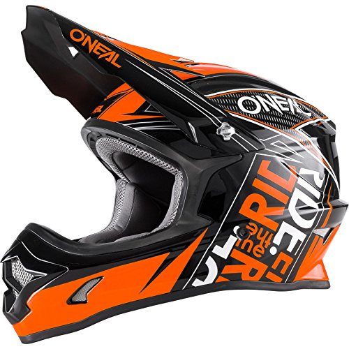 O'NEAL 3 Series Youth Motocross Enduro Kinder MTB Helm Fuel schwarz/orange 2018 Oneal: Größe: S (47-48cm)