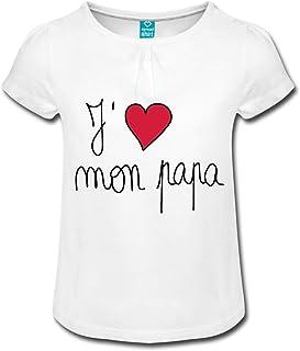 T-Shirt citation mon petit PAPA que jaime de tout mon coeur F/ÊTE DES P/ÈRES ref 1920