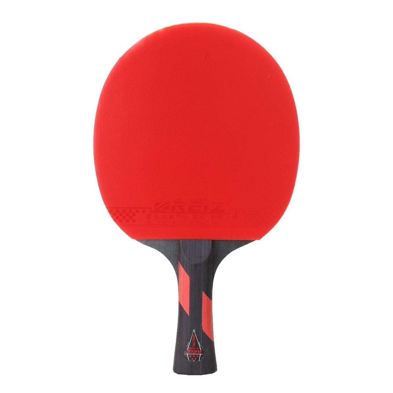 REIZ 5スター卓球ラケットショートまたはロングハンドルシェイクハンドピンポンパドルマッチトレーニングラケットケース付き