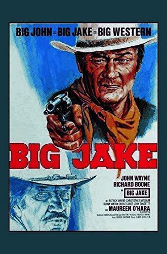 John Wayne Big Jake Motiv 2 Letrero de Metal Placa de Metal Signo de Arqueado Metal Tin Sign 20 X 30CM