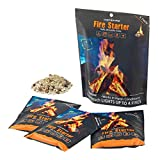 (3 Packs) Insta-Fire Fire Starter Perfect for Camping, Emergencies, Hiking, Fishing, Boating, Fire Pits, Grilling, Survival, Preppers, Food Storage, Boiling Water (as Seen on Shark Tank!)