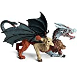 6.69 x 3.54 x 4.33 inches Realistic Chimera Figurine Plastic Flying Dragon Figurines