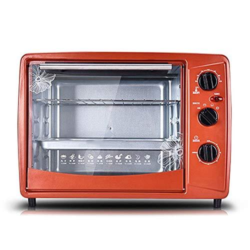 Horno electrico de sobremesa Mini horno Máquina de hornear multifuncional Máquina para hornear Pizza Pan Bizcocho Máquina de pan 30L Capacidad con control de temperatura Temporizador Cocina Herramient