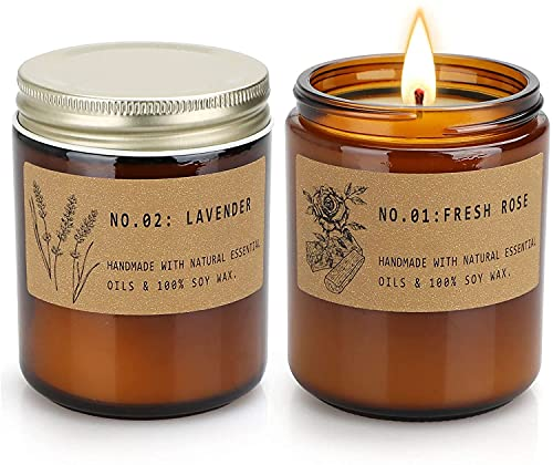 candele profumate biologiche Candele profumate per aromaterapia per la casa