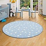 alfombra redonda infantil azul
