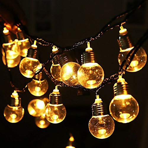 L.J.JZDY Solar Lights LED Outdoor Solar Lamp 9M 50 LED Clear Globe Bulbs Solar Led String Fairy Light Outdoor Solar Globe Patio Party Wedding (Color : Warm White, Size : Free)