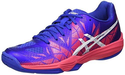ASICS Damen Gel-Fastball 3 Handballschuhe, Violett (Blue Purple/White/Rouge Red), 40 EU