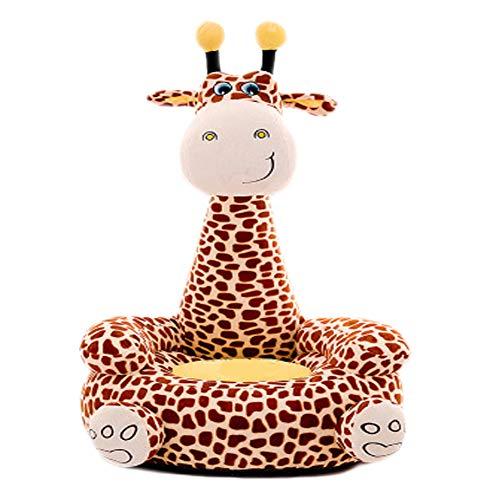 Yzzlh - Sofá de peluche para niños, diseño de jirafa, diseño de animales (marrón)