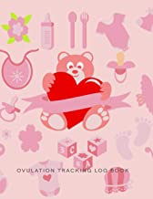 Ovulation Tracking Log Book: 50 Pages Easy-Carry Slim Log Book With Tables | Manual Pregnancy Test Strip & Ovulation Test ...
