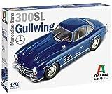 Italeri 3645S-Maqueta de Mercedes Benz 300 SL Gull Wing, Escala 1:24, maqueta, modelismo, Manualidades, Hobby, Pegado, plástico, Color Plateado (3645S)