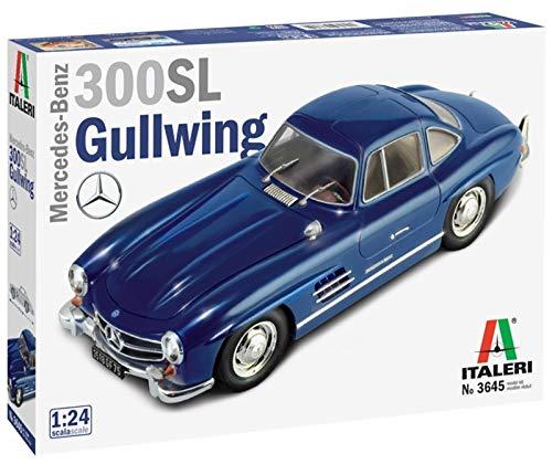 Italeri-3645 Mercedes Benz 300SL Gullwing 1:24, modellismo, Model Kit, Automobili, Scala Modello in Plastica da Assemblare e Pitturare, Colore Blu, 3645S