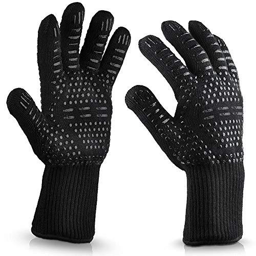 RENCALO 1pc Silikon und Baumwolle hochtemperaturbeständig hitzebeständig Nützliche Speck Mikrowellenherd-Handschuh für Kochen Backen Grillen Topflappen-# 04
