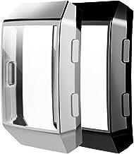 [2 Pack] Fitbit Ionic Screen Protector Case, JZK Scratch-Resistant Flexible Lightweight..