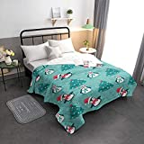 Singingin Soft Down Alternative Quilted Comforter Classic Xmas Penguin Christmas Tree All Seasons Puffy Warm Thin Duvet Insert Hypoallergenic Machine Washable 82X86inch