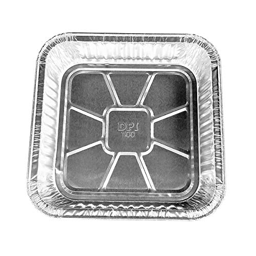 "Disposable Aluminum 9 X 9 X 1 3/4"" Square Cake Pan #1100NL (100)"