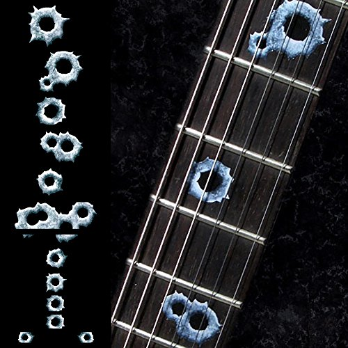 Fretboard Markers Inlay Sticker Decals for Guitar & Bass - Bullet Holes