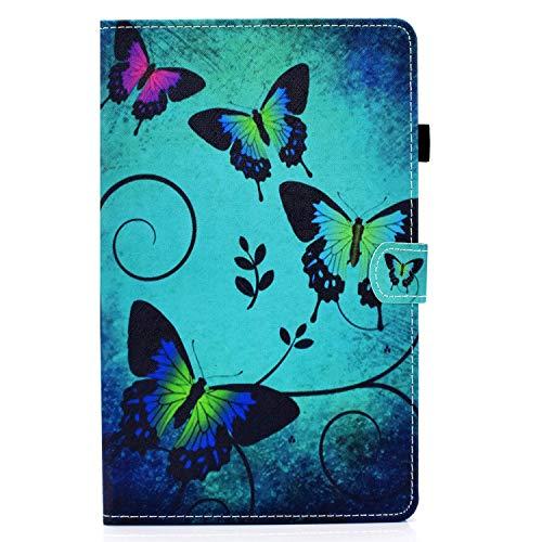 zl one Compatible con/reemplazo para Tablet PC Samsung Galaxy Tab S7 11' SM-T870/T875 2020 liberación PU cuero Flip Cover Stand Magnetic Wallet Case (mariposa)