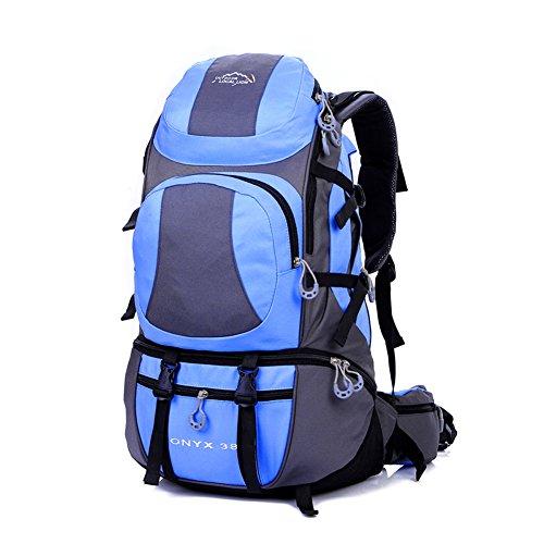 Diamond Candy Zaino da Trekking Outdoor Donna e Uomo con Protezione Impermeabile per alpinismo arrampicata equitazione ad Alta Capacitš€ borsa da viaggio,Multifunzione, 38 litri Azzurro
