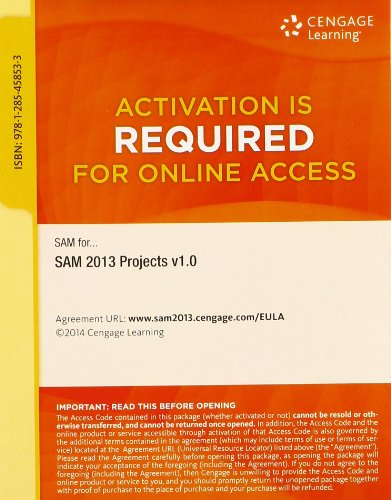SAM 2013 Projects v1.0 Printed Access Card