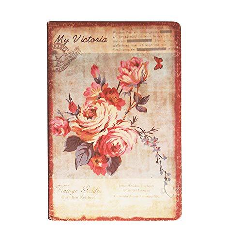 NectaRoy Vintage Libreta y De Viaje Cuaderno, Libreta Bonitas, 96 en Blanco Jotter Diary(14cm x 9cm)