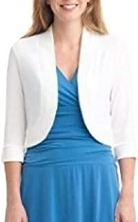 Women's Elegant 3/4 Sleeve Cropped Shrug Bolero Party Cardigan Jacket