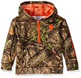 Carhartt Boys' Toddler Hooded Half Zip Sweatshirt, Mossy Oak 219, 4T