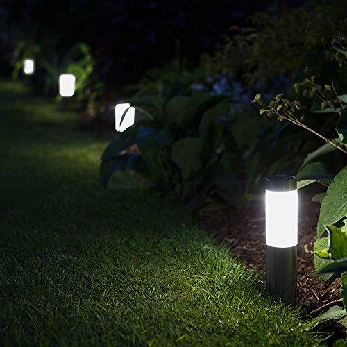 Mini London Solar Powered Outdoor Garden Post Lights (Set of 4)